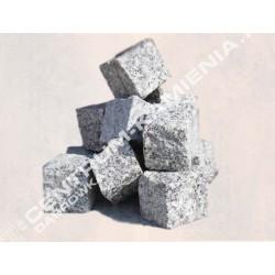 kostka brukowa granitowa 4/6 cm surowo-łupana szara