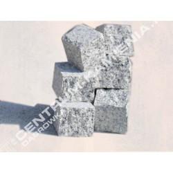 Kostka brukowa granitowa 7/9 cm szara surowo-łupana