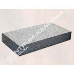 Kostka płomieniowana granitowa gr. 8 cm szara  cięta z płyt