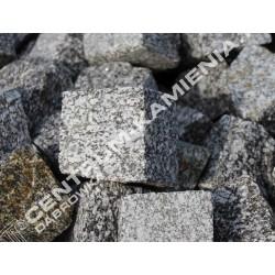 Kostka brukowa granitowa 4/6 cm ciemno-szara surowo-łupana